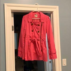 Pink Tulle raincoat, size Large